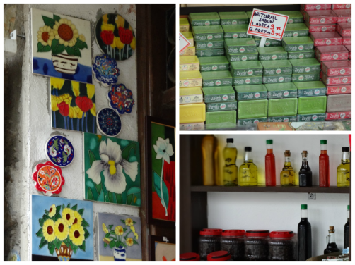 Homemade Tiles and soaps in Sirince Turkey