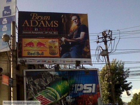 bryan adams concert at kathmandu