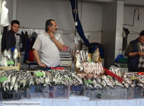 Local fish market selcuk turkey