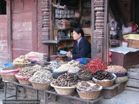 Spice Vendor at Durbar Square Kathmandu