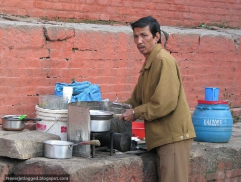 Tea Stall at Durbar Square Kathmandu