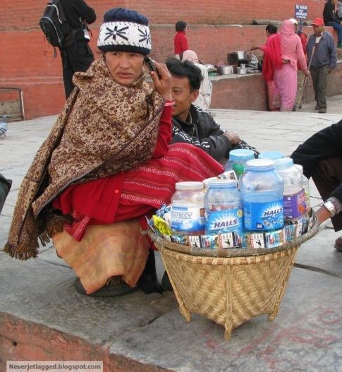 vendor at durbar square kathmandu